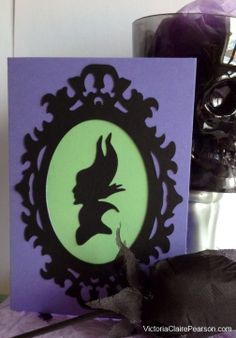 Cameo style Card featuring Maleficent por VictoriaCPearson en Etsy, £2.50