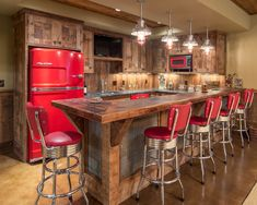 rustic bar in basement For the Home Pinterest Lighting Taps