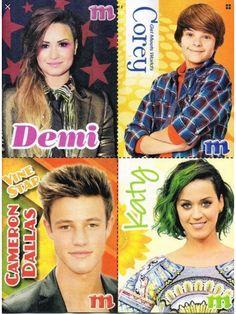 Demi Lovato, Corey Fogelmanis, Cameron Dallas, Katy Perry (M)