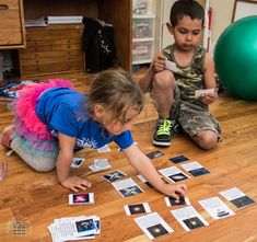 Kids Playing with Universe Cards