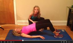 Glute Bridge with Variations for a Perkier Butt| Firms Butt & Hamstrings-- No Equipment Needed! The Nutrition Twins show you how- 1 minute video | For MORE RECIPES, Fitness & Nutrition Tips please SIGN UP for our FREE NEWSLETTER www.NutritionTwins.com