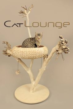 One of the first cat trees we made. Follow us at https://www.facebook.com/catloungenl