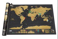 mapa mundi de rascar - Marzo: ideas y descubrimientos | dommuss