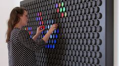 A Gigantic Upgraded Lite-Brite With Color-Changing Dials Instead of Pegs