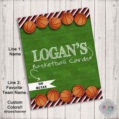 bi012 custom binder insert basketball cards printable by chevellydesigns on etsy
