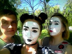 Mime Makeup, Halloween Face Makeup, Carnival, Goth, Painting, Mardi Gras, Gothic, Goth Subculture, Painting Art