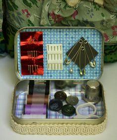 Repurposed Altoid Tin Purse size Sewing Kit. $13.95, via Etsy.