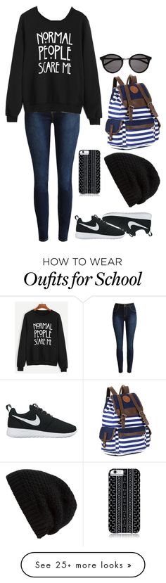 """@elleegrace322 ""Cherry"" Set Redo"" by cherry-did-a-thing on Polyvore featuring NIKE, Savannah Hayes, Rick Owens and Yves Saint Laurent"