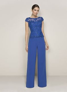 wedding dresses lace, Dignified Pant Suits Tulle & Chiffon Bateau Neckline Mother Of The Bride Dresses With Beaded Lace Appliques DressilyMe UK Bridal Dress Design, Popular Dresses, Beaded Lace, Jumpsuits For Women, Dress Collection, Vintage Dresses, Marie, Lace Dress, Evening Dresses