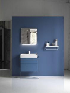 with structure 01 base cabinet by Arik Levy for Inbani Modern Bathroom Sink, Bathroom Toilets, Bathroom Sinks, Bad Inspiration, Bathroom Inspiration, Bathroom Furniture Design, Childrens Bathroom, Basin Design, Bath Cabinets