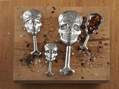 Calavera Measuring Spoons Day of the Dead Sugar Skulls