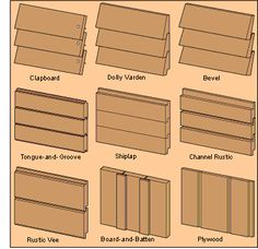 Different wood siding profiles / installation techniques
