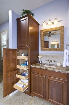 I Would Put Doors On The Upper Cabinets And Outlets Hidden Inside House Pinterest Bath