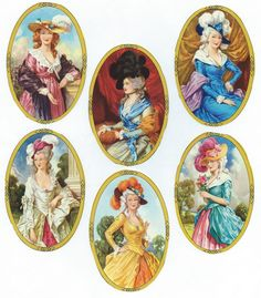 England Paper Lithographed Die Cut Scraps Oval Framed Marie Antoinette Ladies Out Of Print MLP 904 Childhood Toys, Childhood Memories, Ghibli, Good Old Times, Vintage Images, Altered Art, Vintage Toys, Paper Dolls, Diorama