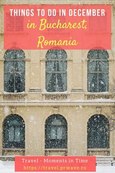 Planning to visit Bucharest in December? Here are the best things to do in Bucharest, Romania in December (National Day Parade, Christmas fairs, and more!) Plus, it's a budget-friendly European destination! Save this pin to your board! Backpacking Europe, Europe Travel Guide, Travel Guides, Travel Destinations, Travel Tours, European Destination, European Travel, Big Ben, Visit Romania