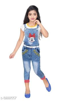 Checkout this latest Dungarees & Jumpsuits Product Name: *Elegant Cotton Kid's Girl's Dungaree* Sizes:  2-3 Years Easy Returns Available In Case Of Any Issue   Catalog Rating: ★4.2 (4050)  Catalog Name: Cutiepie Elegant Cotton Kid's Girl's Dungarees Vol 1 CatalogID_443969 C62-SC1152 Code: 434-3222557-0111