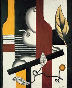 'Feuilles et fruits', 1927, Fernand Léger