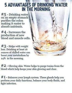 After, I drink my glass of water, then a drink a glass of fresh squeezed lemon water