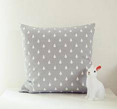Kissen - Ahoj-2012 Regentropfen-Kissen, Kissenhülle/-bezug - ein Designerstück…
