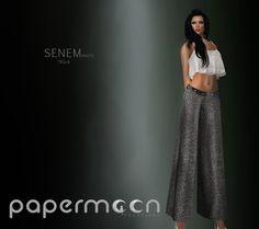 PaperMoon- Senem Pants Sparkling - Black