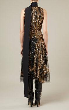 Bead-Embroidered Tulle Midi Dress By Elie Saab   Moda Operandi
