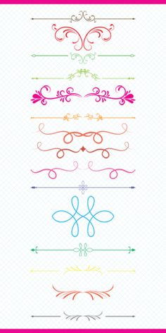 Colorful Vintage Text Dividers