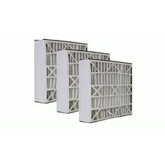 3 Pleated Furnace Air Filter 20x25x5 MERV 8 | Trion Air Bear Filters 255649-102