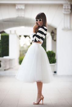 tulle + stripes.