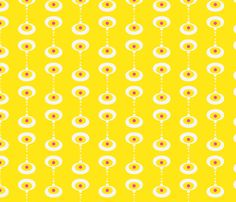 Poppy Sunny Yellow fabric by zesti on Spoonflower - custom fabric