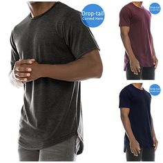 Casual Outfits, Men Casual, Long A Line, Branded T Shirts, Fashion Brands, Hip Hop, Crew Neck, Hipster, Mens Tops