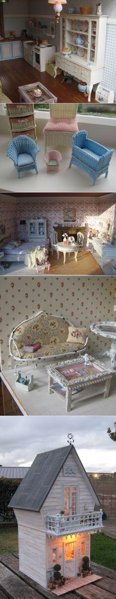 Кукольные домики.Такие крохотные и милые)