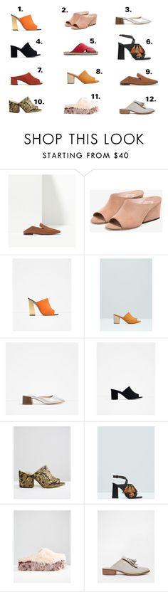 """mules"" by almudena-inwonderland on Polyvore featuring moda, Massimo Dutti, Uterqüe, Zara, MANGO y ASOS"