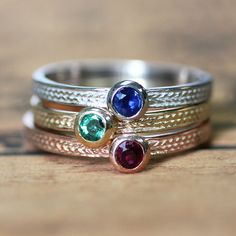 Hey, I found this really awesome Etsy listing at https://www.etsy.com/listing/191626863/gemstone-stack-rings-wheat-braid-texture