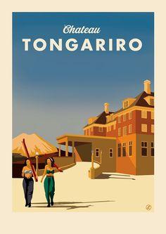 Chateau Tongariro on Behance