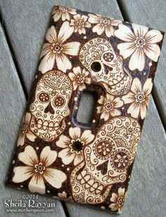 Sugar Skull Light Switch Cover #sugarskull