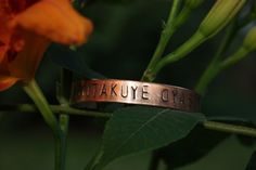 MITAKUYE OYASIN We Are All Related Lakota Phrase Hand Stamped COPPER Cuff Bracelet. $20.00, via Etsy.