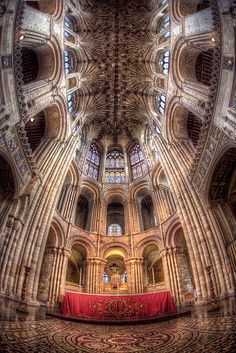 #HDR photograph of The Beautiful Altar at Norwich Cathedral taken with 7 exposures on a Fish Eye lens.