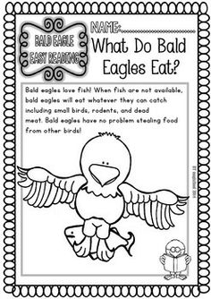 Bald Eagle ( Ready to Print Easy Readings and Worksheets)
