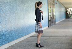 #fashionblogger #plaid #urbanoutfitters #slipdress #leather