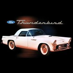 1955 Pink Ford T Bird Thunderbird Graphics T Shirt  Size M L XL 2XL 3XL Free Shipping