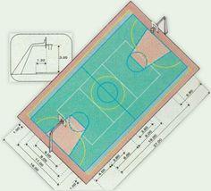 Veja as medidas oficiais de diferentes modalidades para montar a sua quadra em casa
