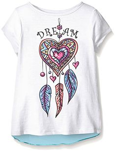 Dream Star Little Girls' Short Sleeve Screen Tee With Chi... http://a.co/bW53mqg