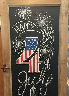 Summer Tavle Art 72 - decoratoo # art # tavle # dekoration # sommer - Lilly is Love Fourth Of July Chalkboard, Summer Chalkboard Art, Blackboard Art, Fourth Of July Decor, Chalkboard Lettering, Chalkboard Designs, 4th Of July Decorations, 4th Of July Party, Chalkboard Ideas