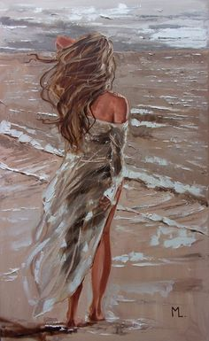 Diy Canvas Art, Oil Painting On Canvas, Oil Painting For Sale, Art Drawings Sketches, Paintings For Sale, Original Paintings, Beach Art, Portrait Art, Lovers Art