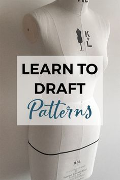 34164032 Draft your own blocks with the Pattern Making Basics course! ~ Learn how to draft pattern blocks with Pattern Making Basics! A text course with one lesson per day you can start making your own pattern blocks or slopers! Sewing Projects For Beginners, Sewing Tutorials, Sewing Hacks, Sewing Tips, Pattern Drafting Tutorials, Sewing Lessons, Sewing Ideas, Sewing Basics, Techniques Couture