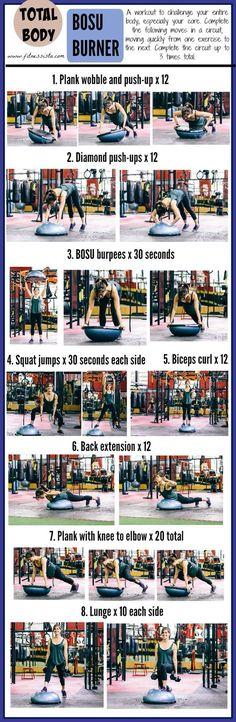 Total body body ball workout