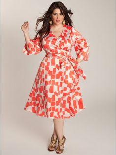Cicily Plus Size Wrap Dress - Plus Size Dresses by IGIGI
