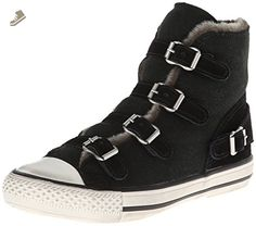 Ash Women's Virginy W Fashion Sneaker, Black, 40 EU/10 M US - Ash sneakers for women (*Amazon Partner-Link)
