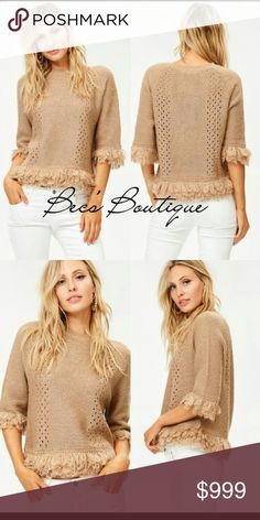 ⬇REDUCED⬇ Fall Fringe Sweater *Bundle to save when purchasing! Sign-up on new arrivals page to be notified of promotions and new items! 100% Acrylic Boutique Sweaters