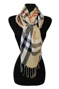 Sassyposh.com Burberry look scarf beautiful warm cozy scarf